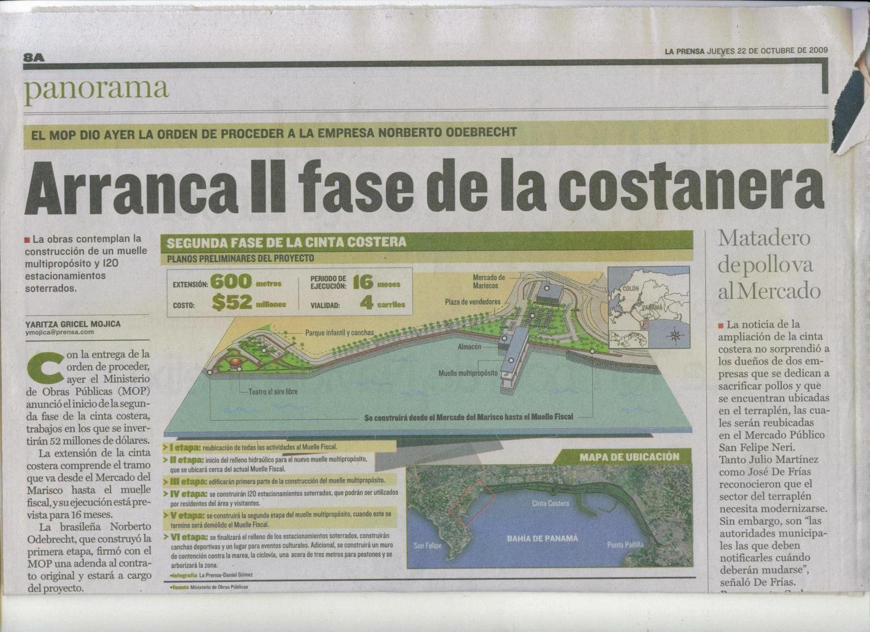 Cinta Costera extension
