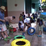 painting tires