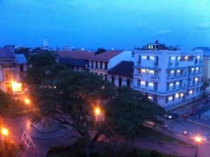 Plaza Herrera sunset
