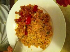 rice with garbanzos