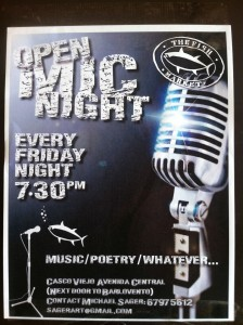 open mic at fish market