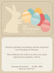 Easter Las Clementinas Spanish