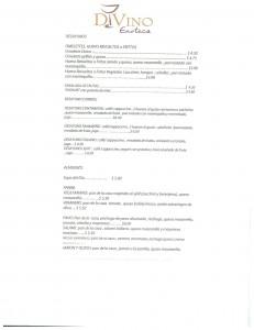 Di Vino menu