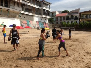 beachtraining casco viejo