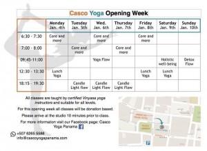 schedule yoga