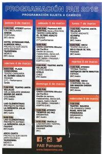 FAE Schedule 2016