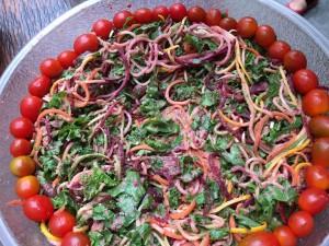raw vegan rainbow pasta